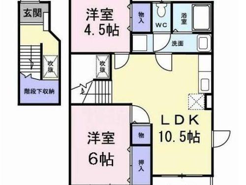 福岡県春日市神白水 貸アパート