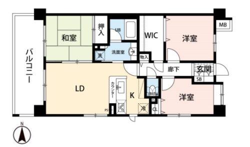ペット飼育可!3LDKの広々マンション